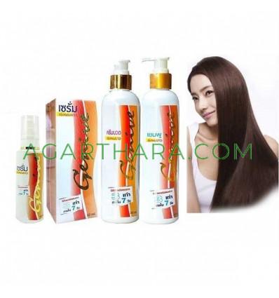 Genive Long Hair Set Serum Shampoo Conditioner Fast Growth Longer Treatment