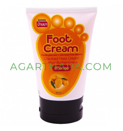 Banna Foot cream with fruit extracts, 120 ml