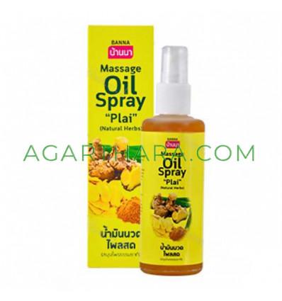 """Banna Massage Oil Spray """"Plai"""" Natural Herbs, 85 ml"""